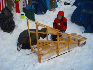 Assembling one of the Sleds