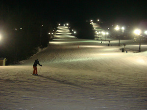 Lighted Ski Slopes
