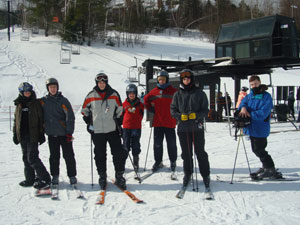 Part of the ski crew