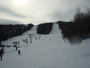 The slopes in daytime