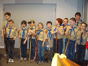 New Scouts from Pack 17