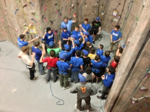 Indoor Rock Climbing Overnight